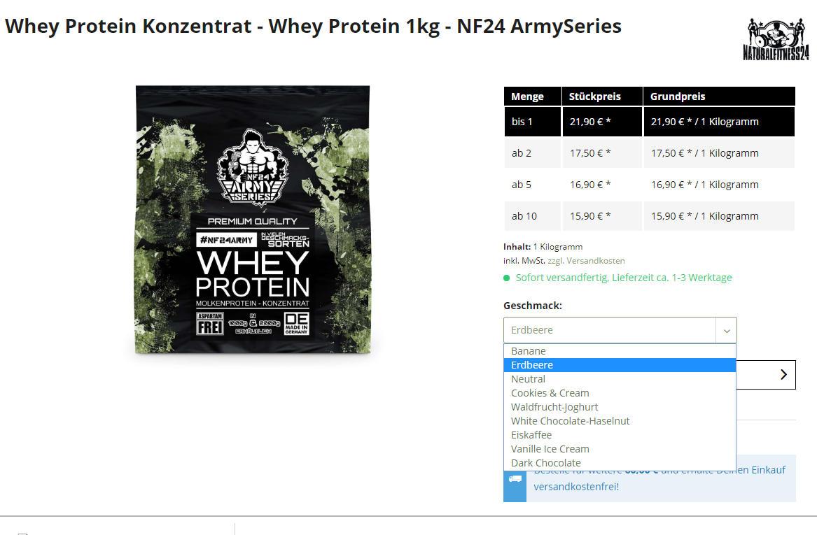 günstiges whey protein