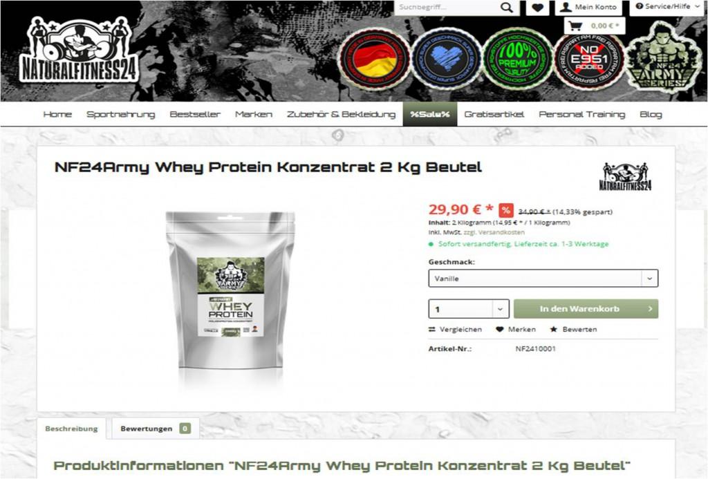 günstiges whey proteinpulver